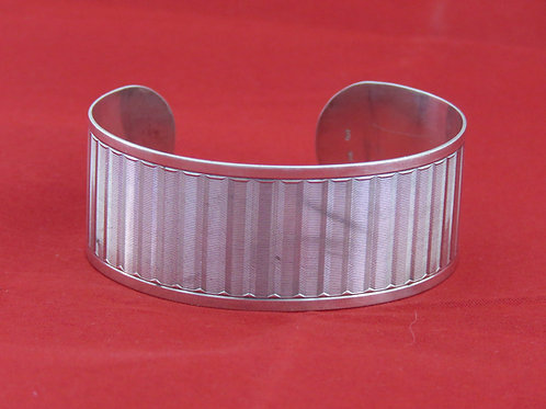 וינטג' צמיד עוצב גדול ומרשים עשוי מכסף 800 בעבודת יד אירופאי