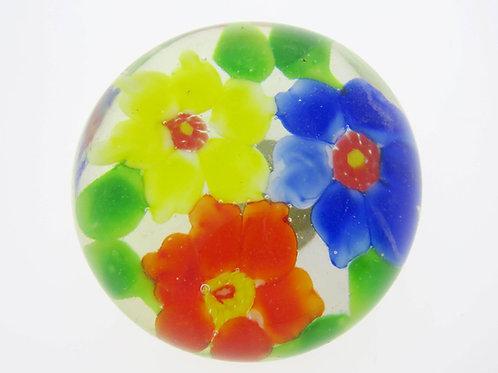 משקולת נייר וינטג' עם פרחים בעבודת יד