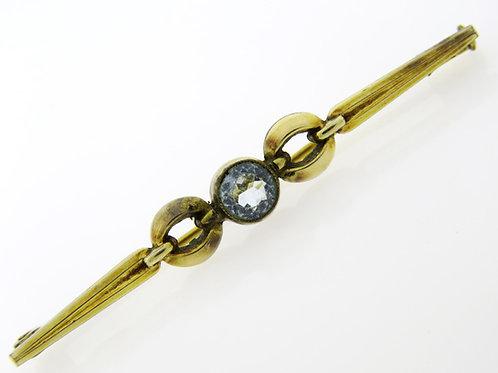 סיכת וינטג' מתכת בציפוי זהב בעיצוב ארט דקו בעבודת יד aaronjewelryart.com