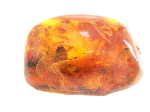 Unprocessed Baltic Natural Amber Block Russia Honey Color Weight 30.7g