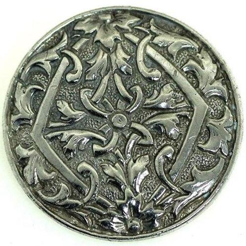 סיכה מעוצבת בדוגמא צמחית מכסף סטרלינג 835 וינטג' עבודת יד