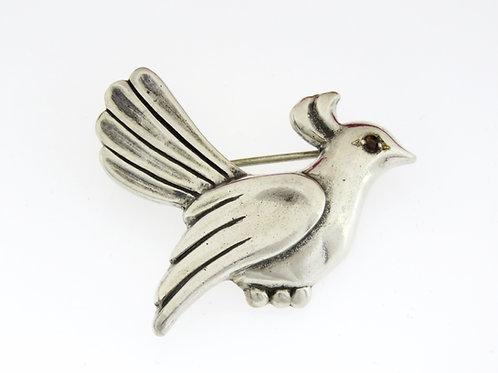וינטג' סיכת ציפור יונה מודרניסטית מכסף סטרלינג 925 שנות ה'50