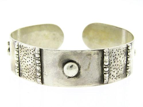צמיד וינטג' מכסף סטרלינג 925 מודרני גדול ישראל 60' עבודת יד
