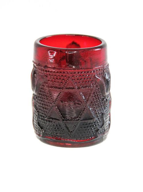 כוס זכוכית עתיקה לפסח מיועדת לילד מזרח אירופה או בוהמיה תחילת המאה ה - '20  aaronjewelryart.com