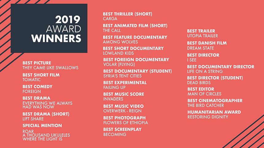 ACFF 2019 Award Winners