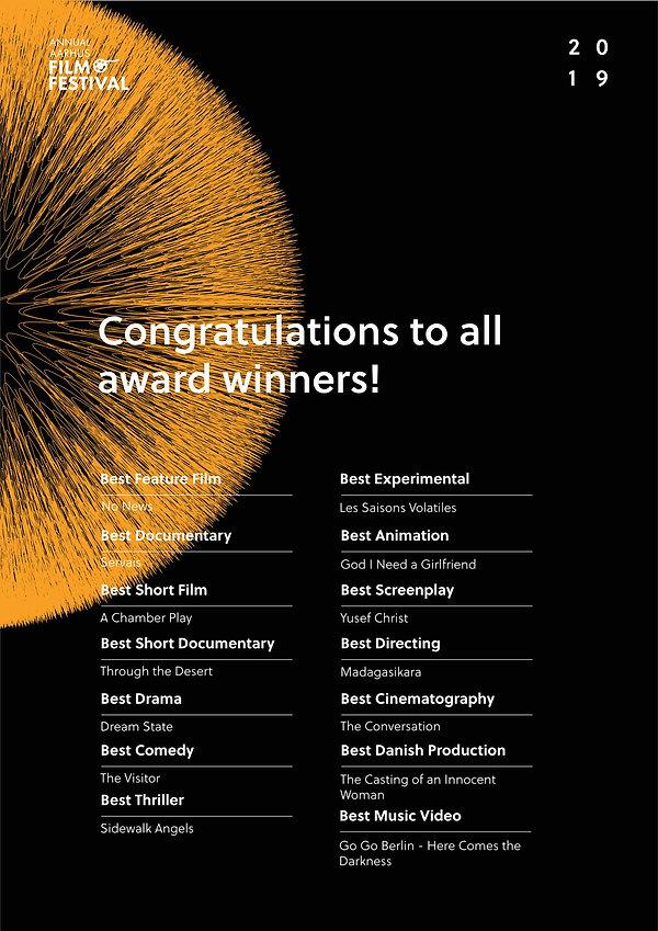 Winners at Annual Aarhus Film Festival 2019