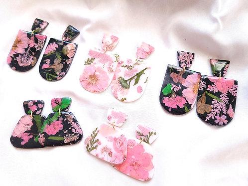 Black/White & Pink Floral