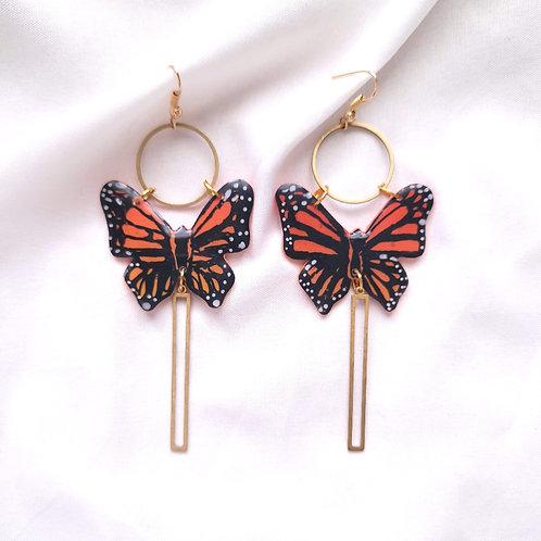 Butterfly Brass Dangle