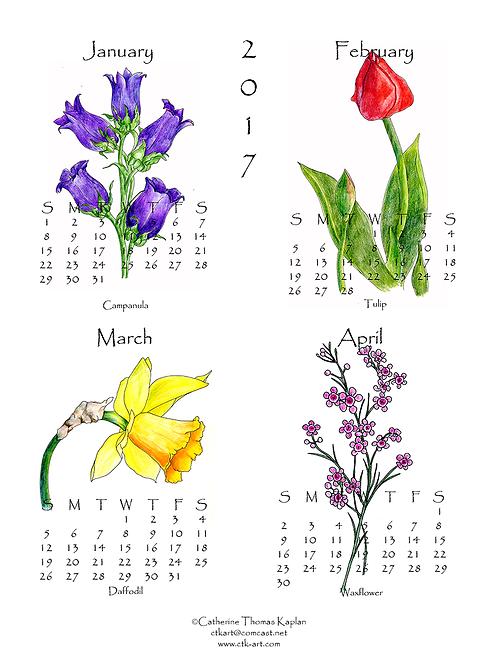 "2019 wall calendar (11"" x 14"") - 3 sheets"