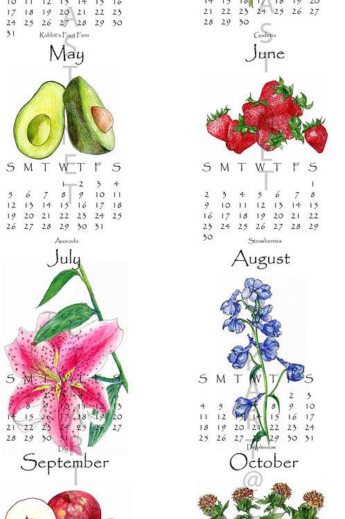 "2019 wall calendar (11.75"" x 36"") single sheet"