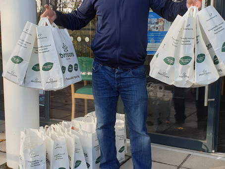Thank you to Morrisons For donation of 18 Food Parcels
