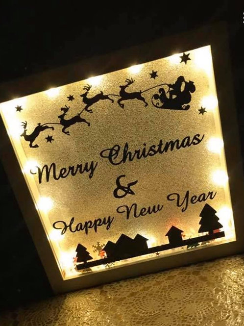 Christmas personalised light up box frame
