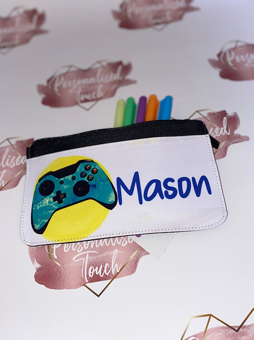 Personalised Gamers pencil case
