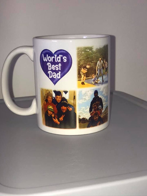 Personalised World's Best Dad/Mam Personalised Mug