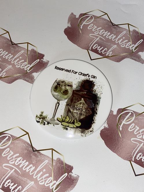 square Personalised Hendricks Gin Drinks Coaster