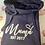 Thumbnail: Personalised 'Mama' cross neck hoodie