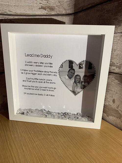 Lead me Daddy personalised frame
