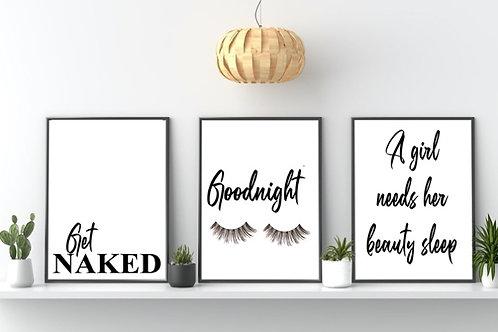 Personalised trio of prints