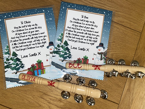 Personalised Christmas Eve Bells - Approx 2 week turnaround
