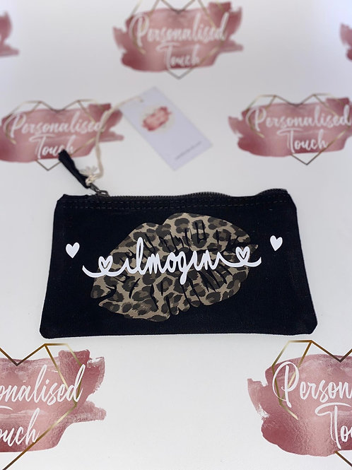 Personalised Face mask pouch or Make up bag