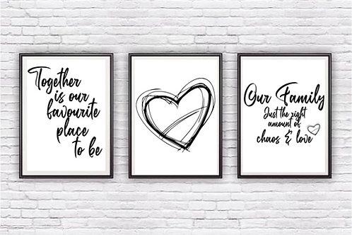 Gorgeous trio of prints