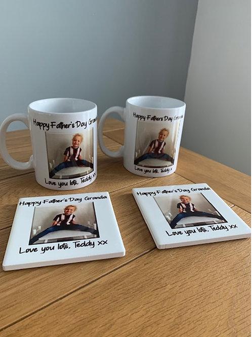 Personalised photo mug & coaster set