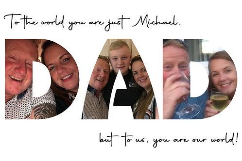 Personalised Dad, Daddy or Granda photo print
