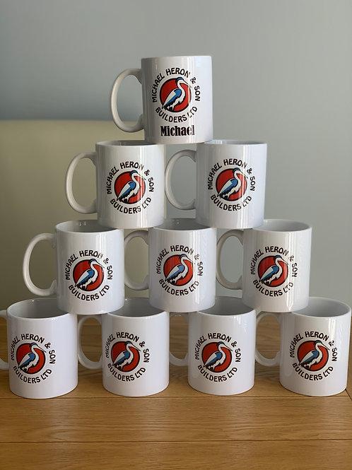 Personalised company logo mug