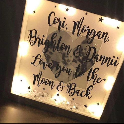 Personalised Light up box frame