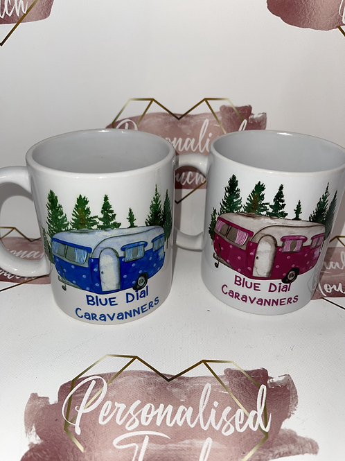 Personalised caravan mugs