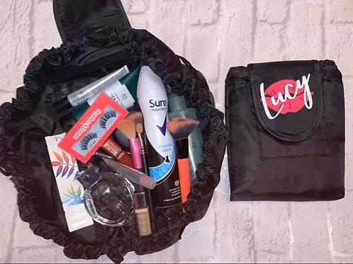 Personalised Large Cosmetic Bag Drawstring Makeup Bag