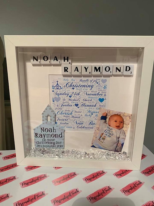 Personalised Christening Box Frame