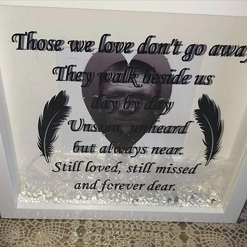 Those we love don't go away personalised frame