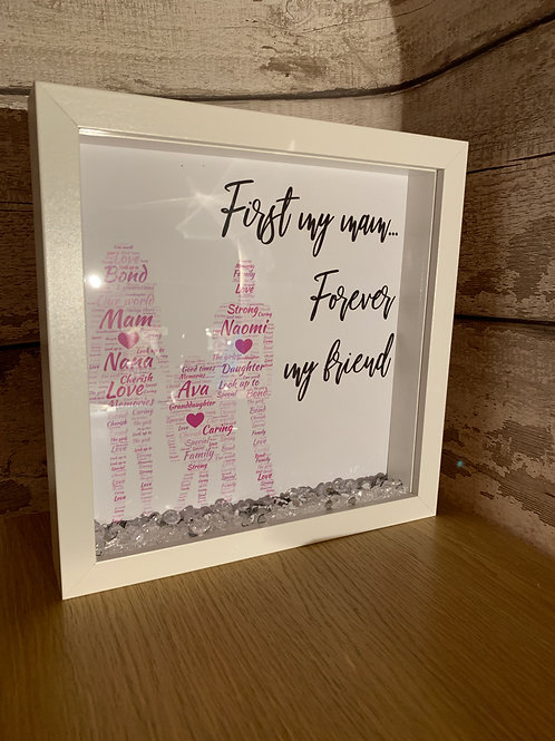First my mum / mam, forever my friend personalised frame