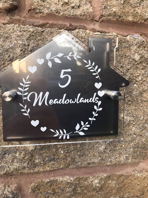Personalised Acrylic House Sign