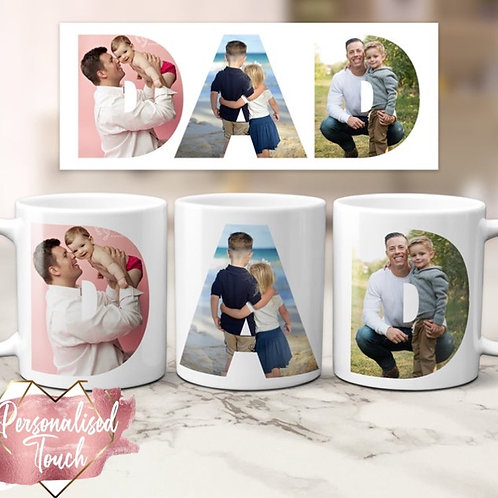 Personalised Dad/Granda photo mug