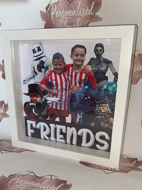 Personalised friends frame with Red dead redemption & fortnight characters