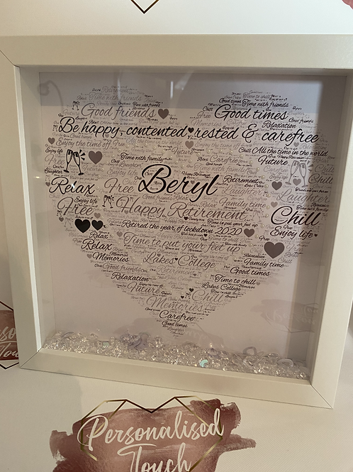 Personalised heart retirement frame