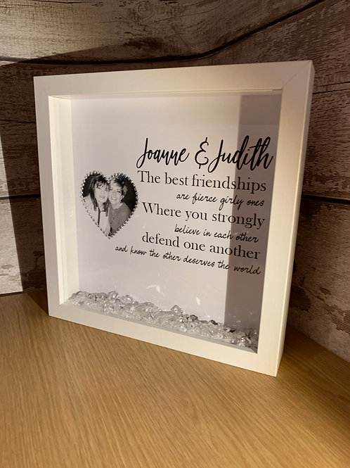 The best friendships are the fierce girly ones personalised frame