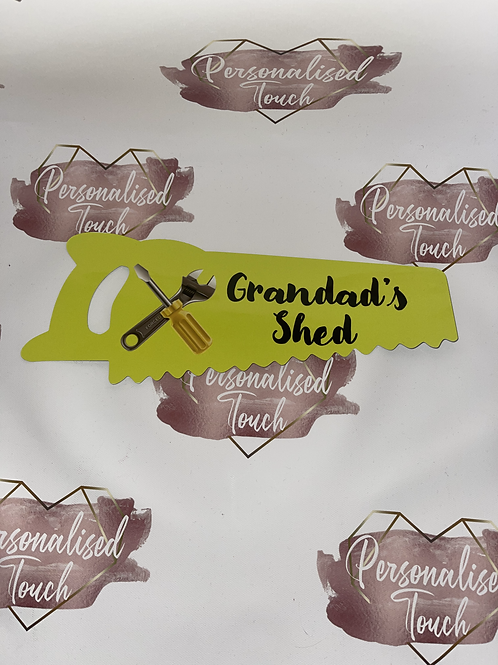 Personalised handsaw outdoor sign