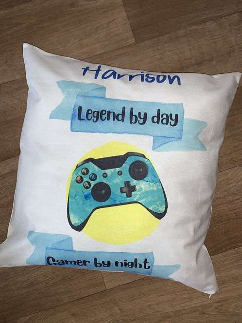 Personalised gamer cushion