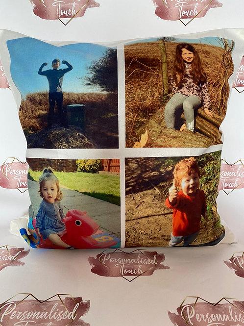 Personalised photo cushion - Minimum 2 photos