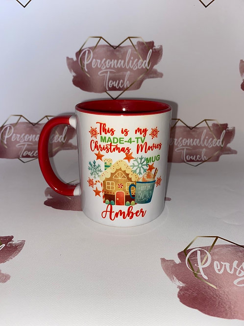 Christmas movies personalised mug