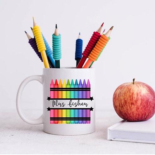 Personalised crayon mug