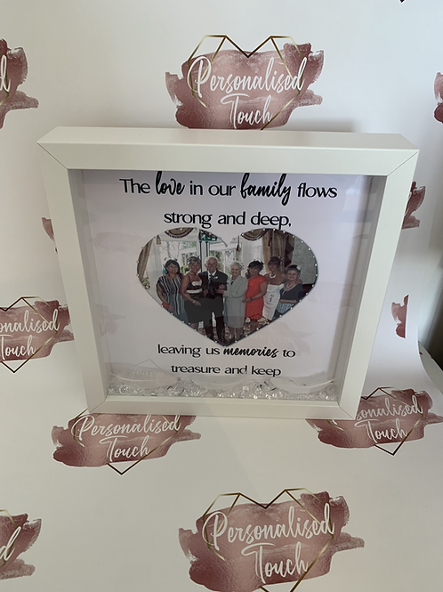 The love in our family personalised frame