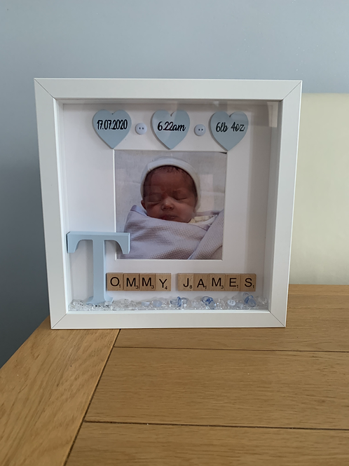 Personalised New baby frame