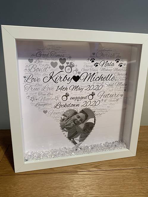 Personalised Engagement box frame