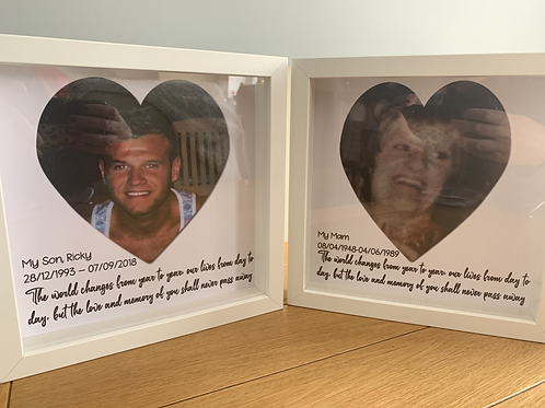 Photo memorial box frame
