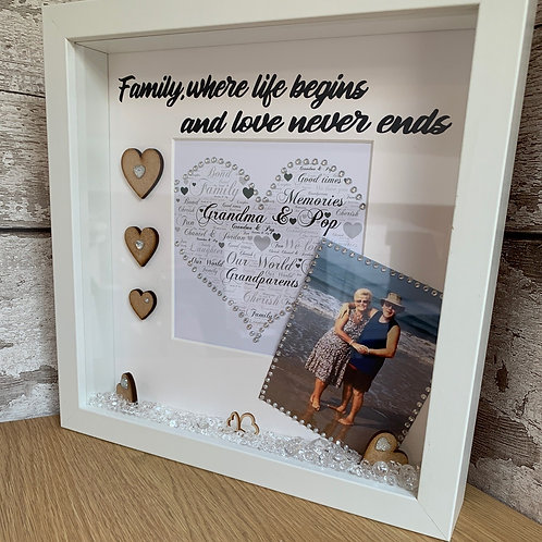 Family personalised box frame