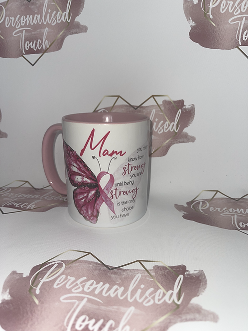 Personalised butterfly cancer mug